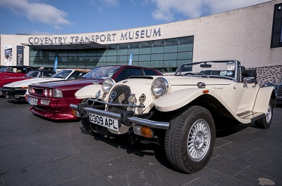 Classic cars outside the museum
