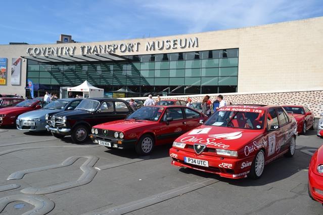 aroc alfa romeo special display - coventry transport museum