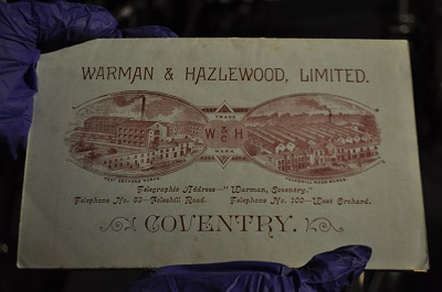 Warman & Hazlewood old advert